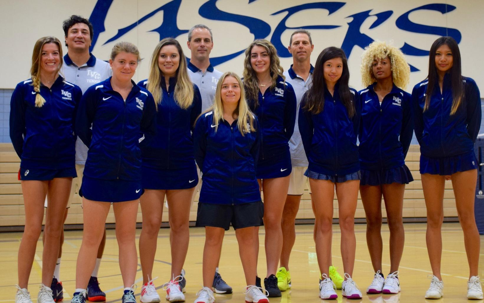 Women's tennis team tops defending conference champion