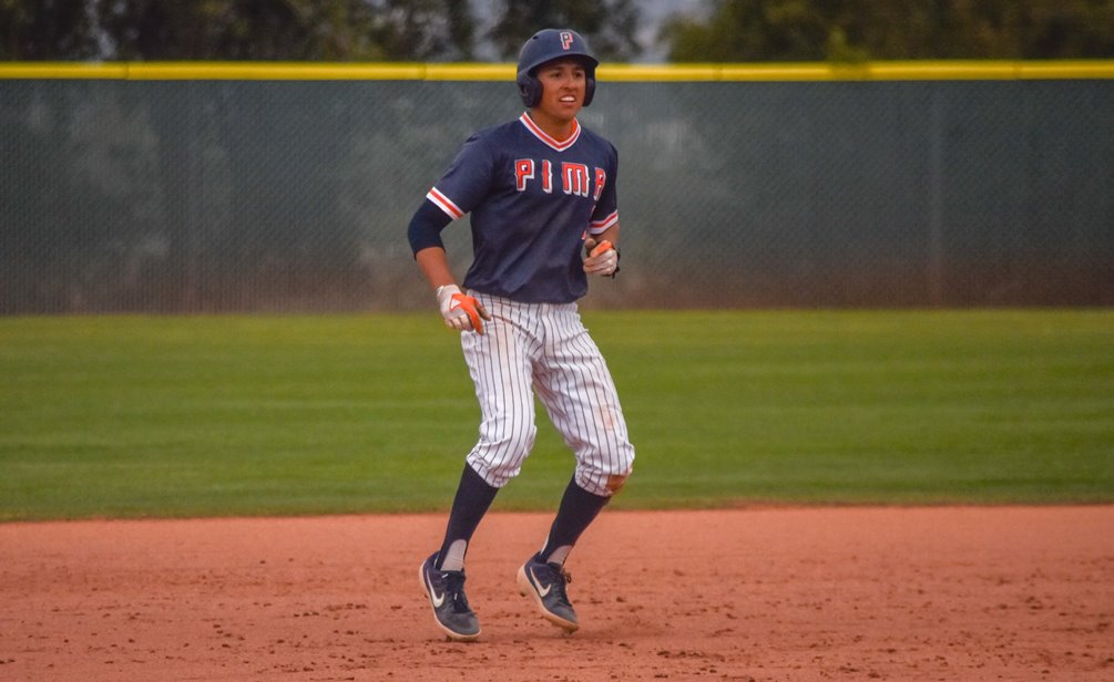 Sophomore Enrique Porchas (Kofa HS) went 6 for 8 on the day with three RBIs and four runs scored as the Aztecs baseball team swept GateWay Community College on Tuesday at the West Campus Field. The Aztecs are 21-9 overall and 9-6 in ACCAC conference play. Photo by Ben Carbajal