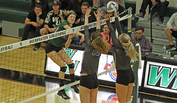 Wilmington Volleyball Dismissed at Bloomfield in Straight Sets