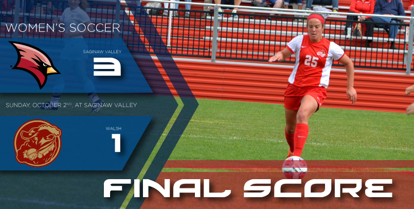 Women's soccer scores three second half goals in victory over Walsh