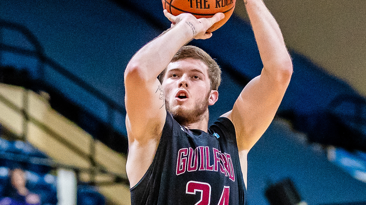 Junior Kyler Gregory matched his career high with 25 points in Guilford College's 80-73 victory over the University of St. Thomas (Minn.) in a third-round NCAA Men's Basketball Tournament game Friday. Gregory scored 17 in the second half to help the Quakers (24-7) overcome a nine-point halftime deficit.