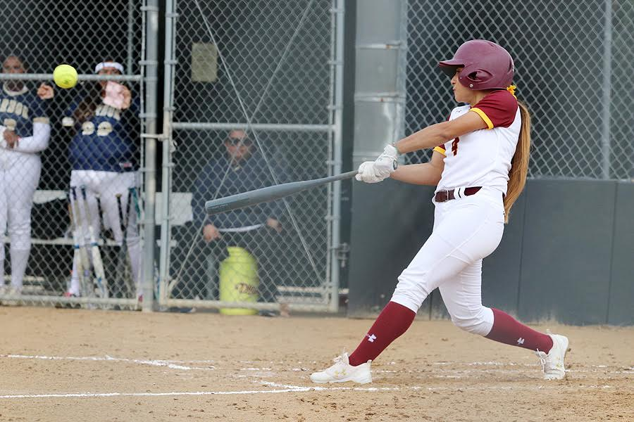 Second baseman Danielle Ruiz is one of many Lancers excelling at the plate this week, photo by Richard Quinton.