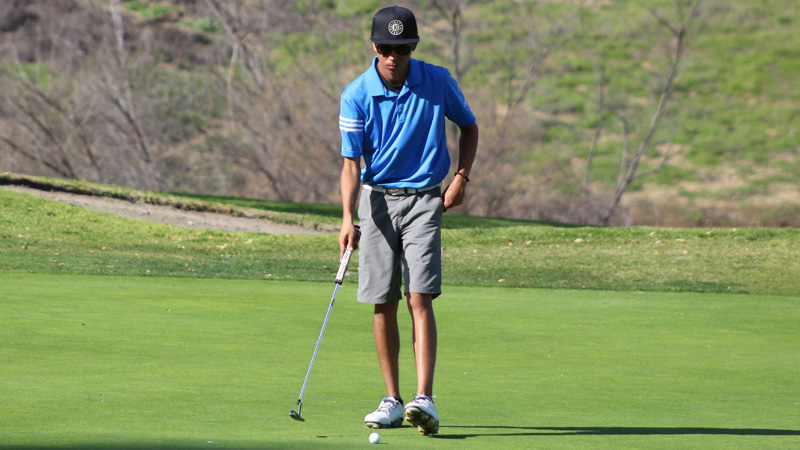 Freshman Gabriel Sosa fired an 80 at the WSC Event hosted by College of the Canyons.