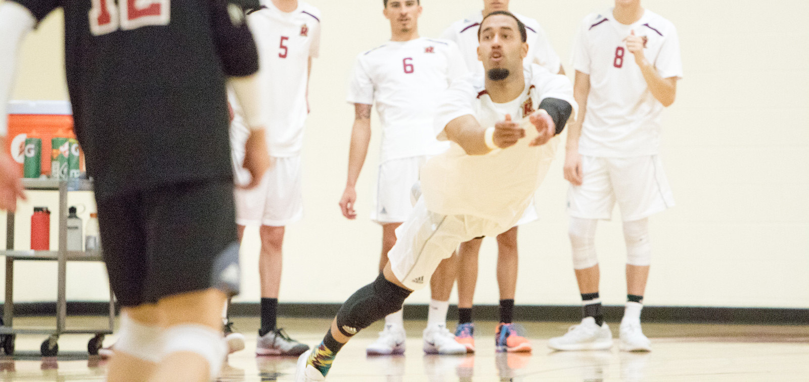 Men's Volleyball Notches First Win With Four-Set Victory Over Dean