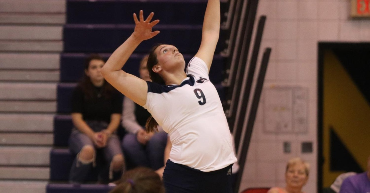 Saints top Wolverines in three sets