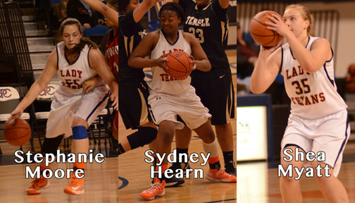 Three Lady Texan hoopsters signing scholarships Thursday afternoon