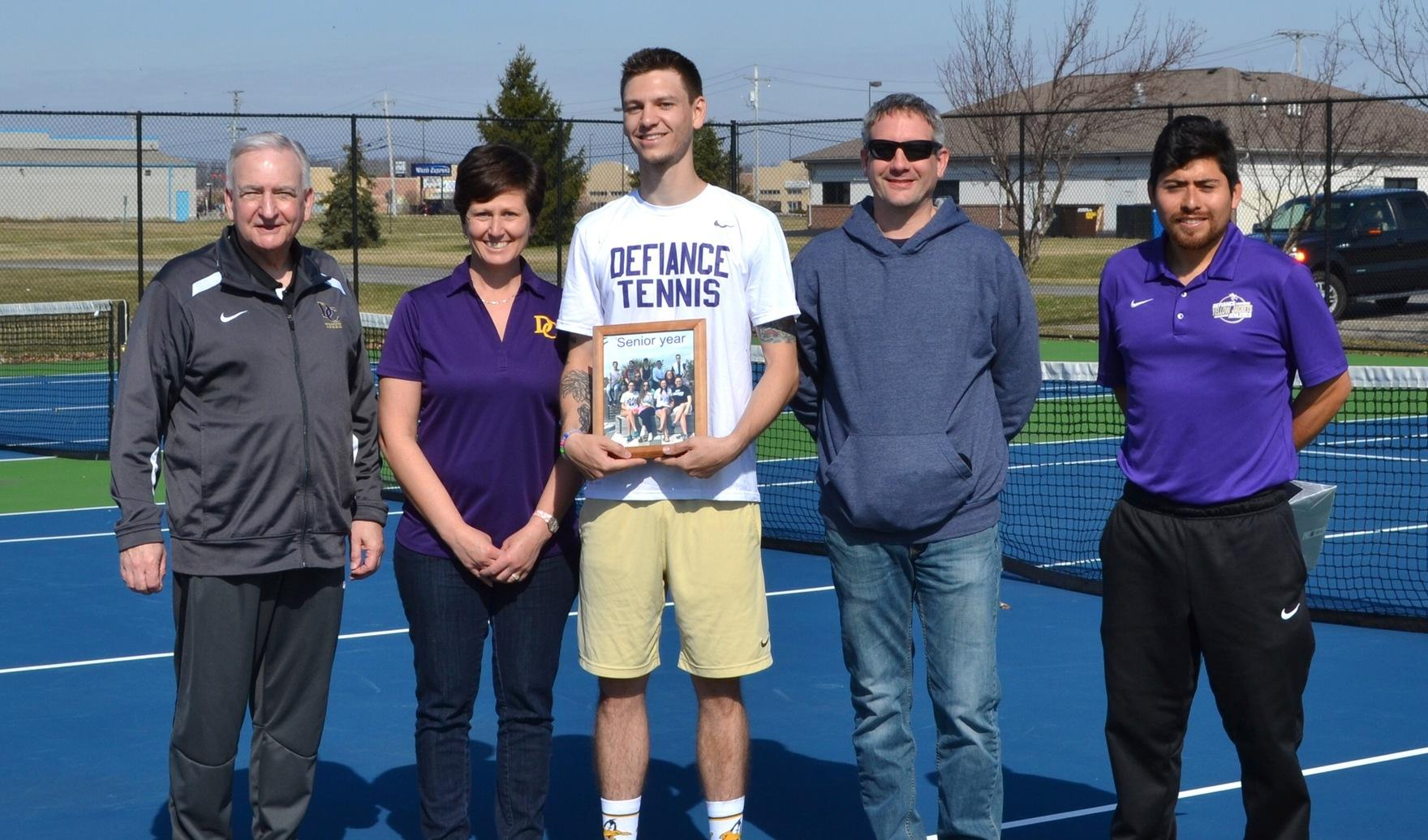Men's Tennis Concludes Home Season with Franklin Battle