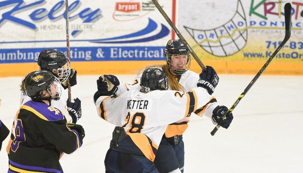 Wittig tallies hat trick as Blugolds dominate Oles, 10-2