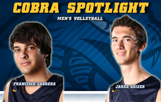 Cobra Spotlight- Francisco Cabrera & Jared Geizer, Men's Volleyball