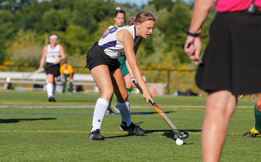 Junior forward Krista Osborne had three goals and an assist in Scranton's 9-0 victory over Keystone on Saturday.