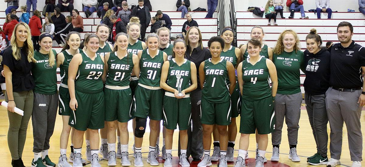 Sage women's hoop team takes Cardinal Classic; Flynn earns MVP and Parslow All-Tournament Team