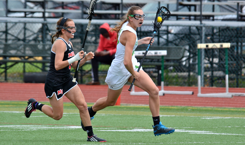 Freshman Clara Blaine tallied three goals to finish with a Wilmington freshman record 28 goals on the season. Her 28 goals are second on the school's single-season list. (Wilmington photo/Randy Sarvis)