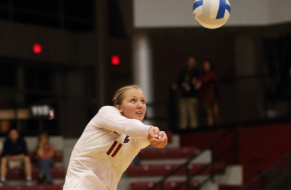 Volleyball Falls in Four vs. No. 18 San Diego; Host No. 14 Pepperdine Next Saturday