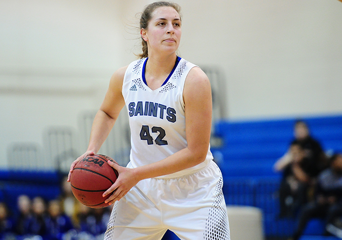 Viscuso Scores 23, No. 24 Saints Post 82-53 CAC Victory Over Wesley