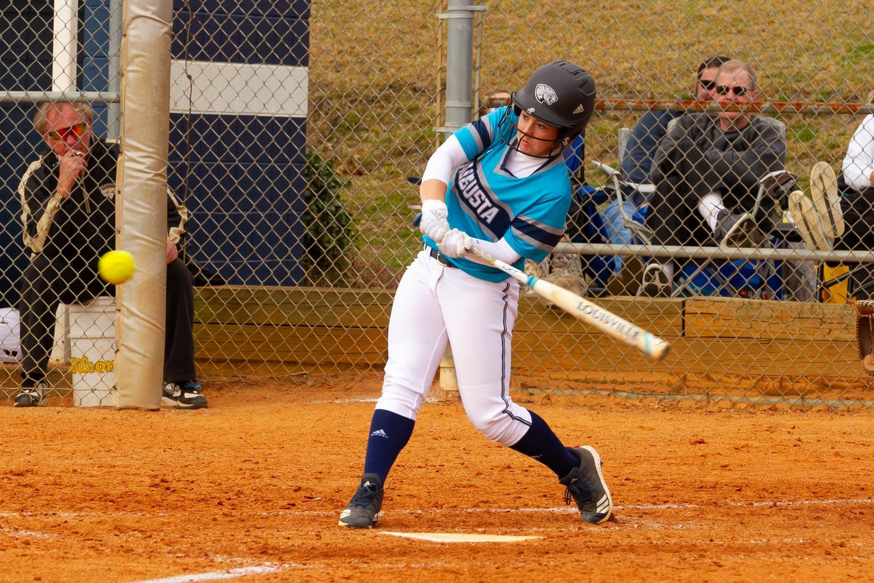 Augusta Softball Sweeps Converse At Jaguar Field
