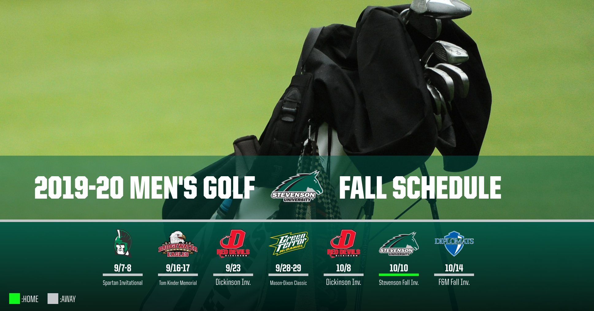 Men's Golf In Action Seven Times This Fall