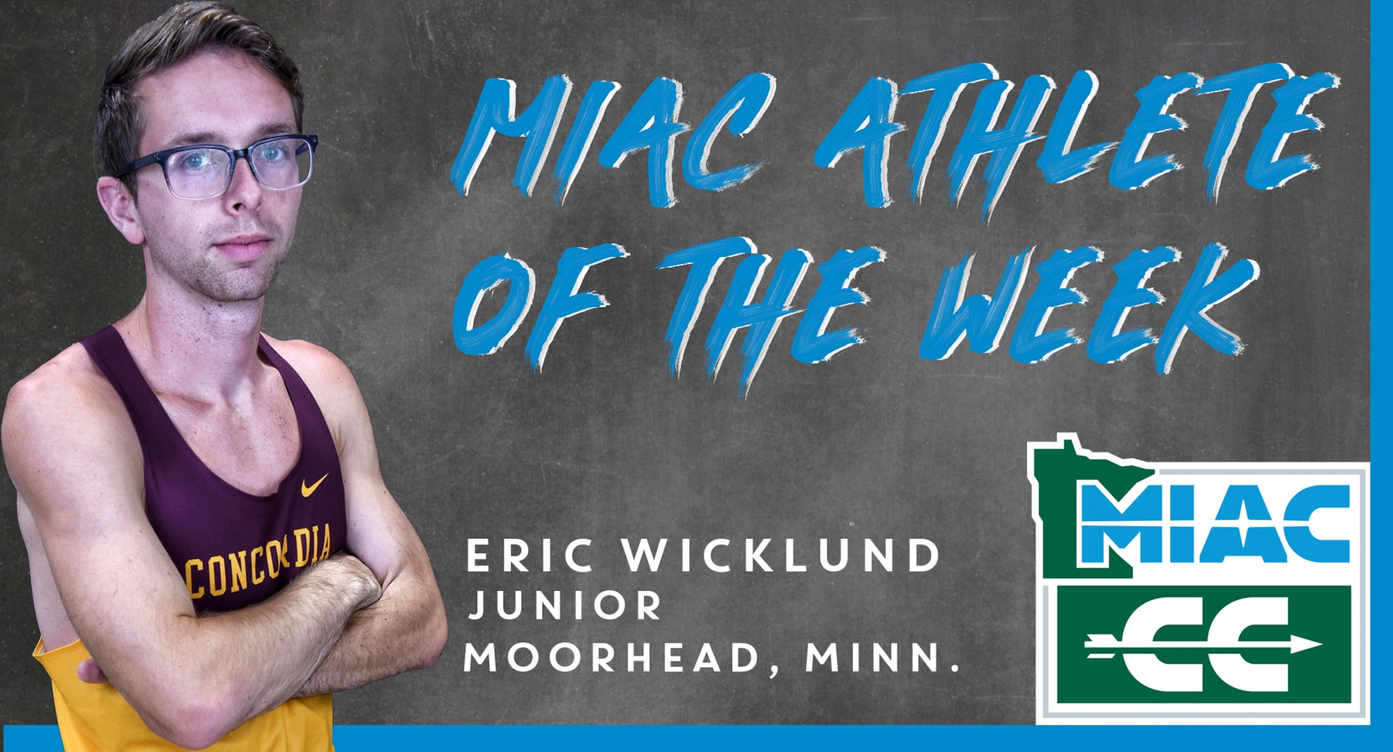 Eric Wicklund was named the MIAC Athlete of the Week after winning the Jamestown Invitational.