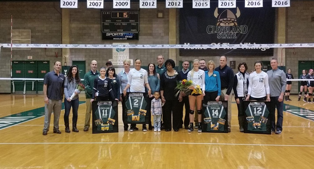 Vikings Clinch #HLVB Regular Season Title With Five-Set Win Over Green Bay