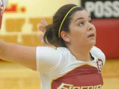 Mirella Nunes led scoring against Goldey Beacom with 16 kills.