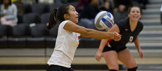 Volleyball Dominates in 3-0 Win Over Mills; Defeats Whittier 3-2