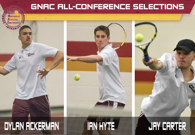 Men's Tennis All-Conference selections - Dylan Ackerman, Ian Hyte and Jay Carter