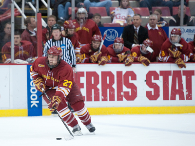 Brett Wysopal and the Ferris State Bulldogs will be tested throughout the 2010-11 season.  (Photo by Ed Hyde)