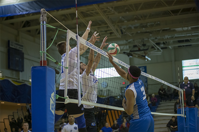 MEN'S VOLLEYBALL SWEEP HUSKIES TO CONTINUE HOME DOMINANCE