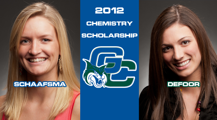 Schaafsma and DeFoor Receive Prestigious Chemistry Scholarship Plan