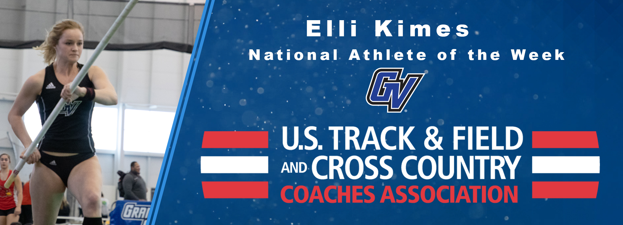 GVSU's Kimes is named USTFCCCA National Athlete of the Week