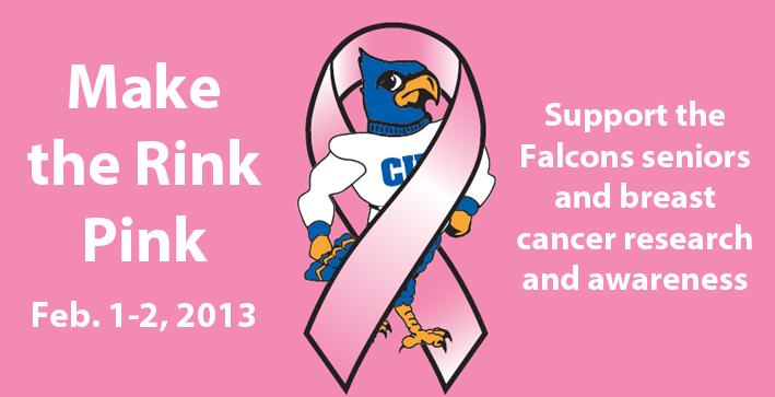 Make the Rink Pink scheduled for Women's Hockey series