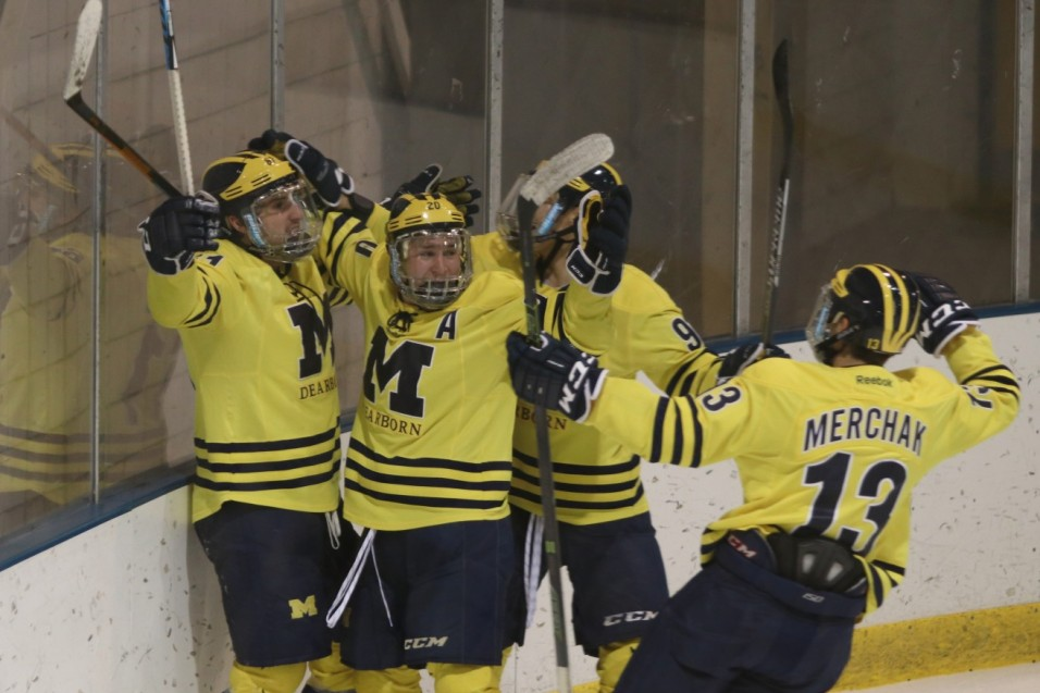 Photo for Groat's Hat Trick Leads Wolverines to Homecoming Win