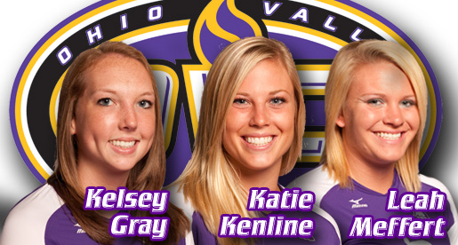 Meffert, Kenline and Gray receive honors from OVC