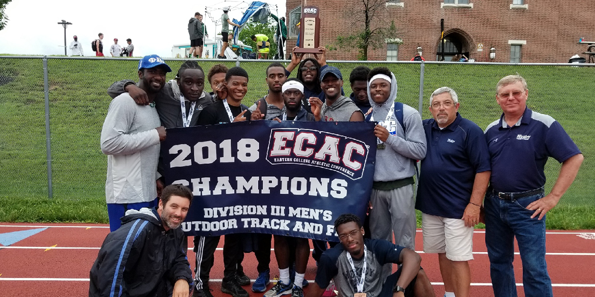 Wesley men's track & field team wins ECAC Championship