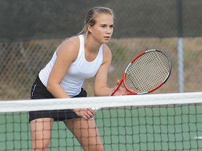 Ferris State women's tennis player Amy Ingle
