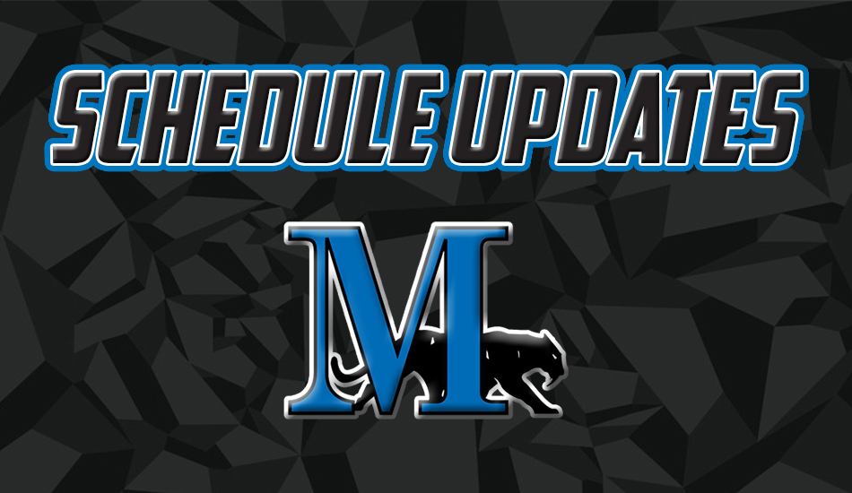 Marian schedule update graphic.