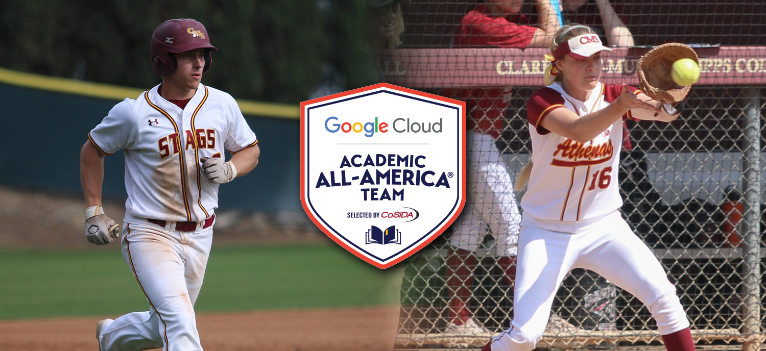 CJ Novogradac (L) and Briana Halle (R) were both named Academic All-Americans on Tuesday.