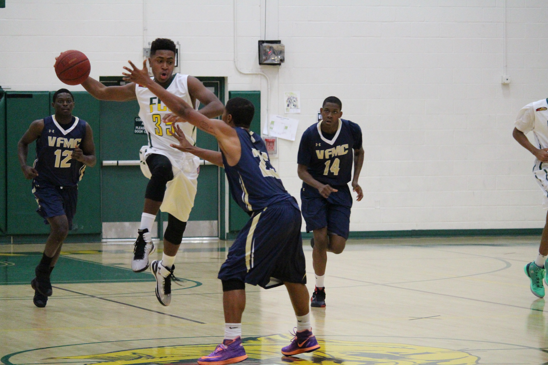 Keon Claiborne continues to produce for FCC contributing 12 points, six assists, and five rebounds against CSM.