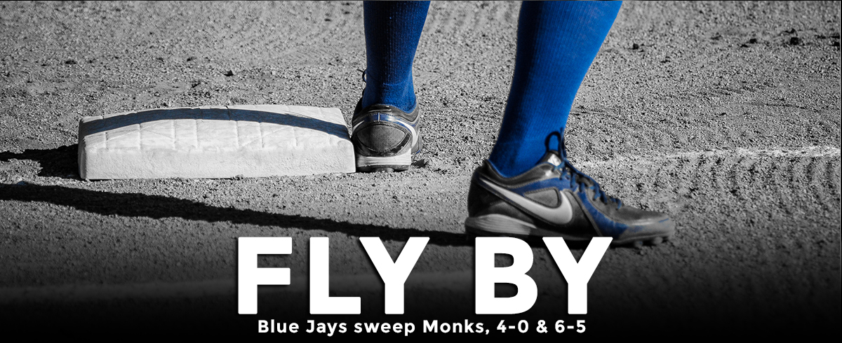 Blue Jays Sweep Monks in GNAC Action, 4-0 & 6-5