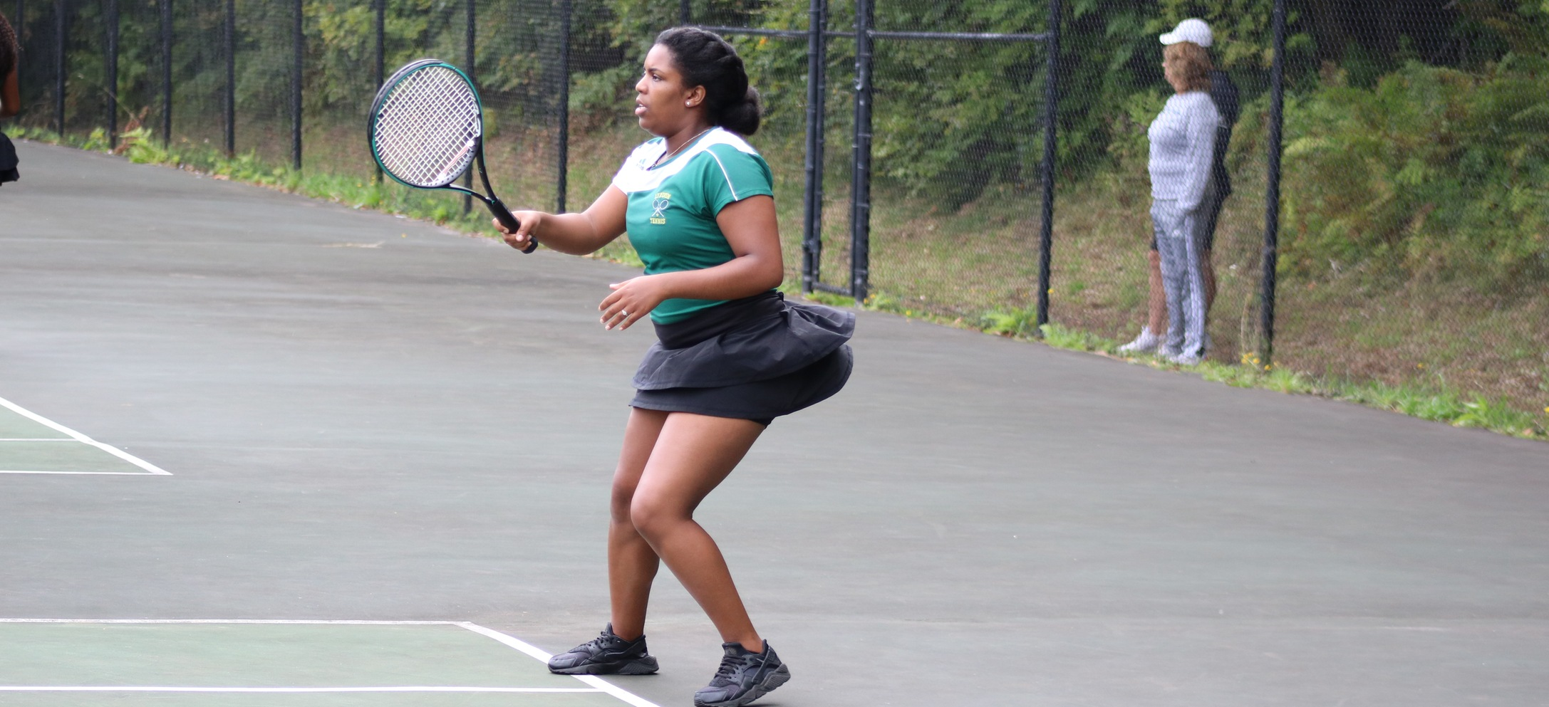 Hornets fall to Lesley in NAC women's tennis opener