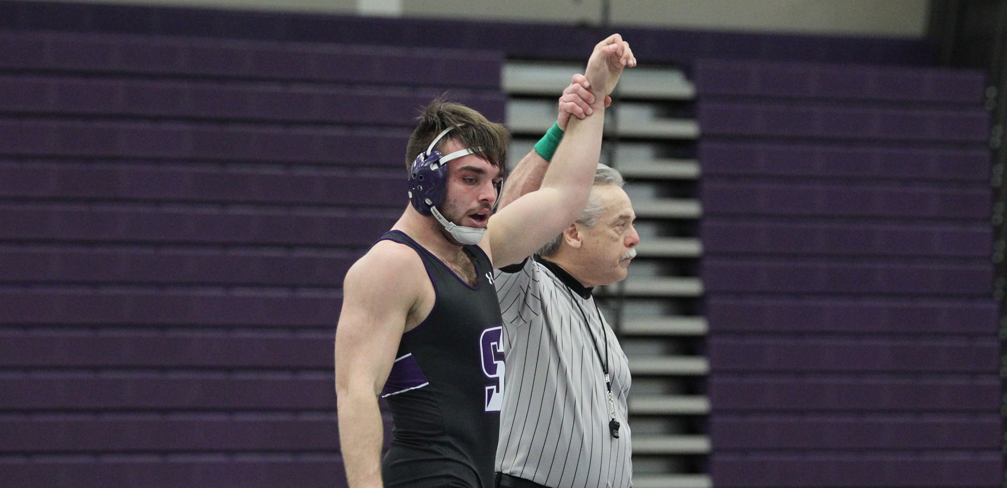 Dan D'Agostini became just the third wrestler in Scranton with at least 100 career wins on Friday night at the Lackawanna Quad Meet.