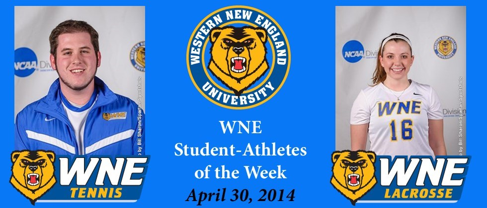 Jessica Scannapieco and Tyler Unwin are the Latest Pair to Earn WNE Student-Athletes of the Week