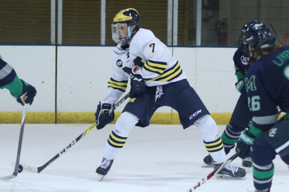 Photo for No. 10 Wolverines sweep No.5 RMU with 4-2 win