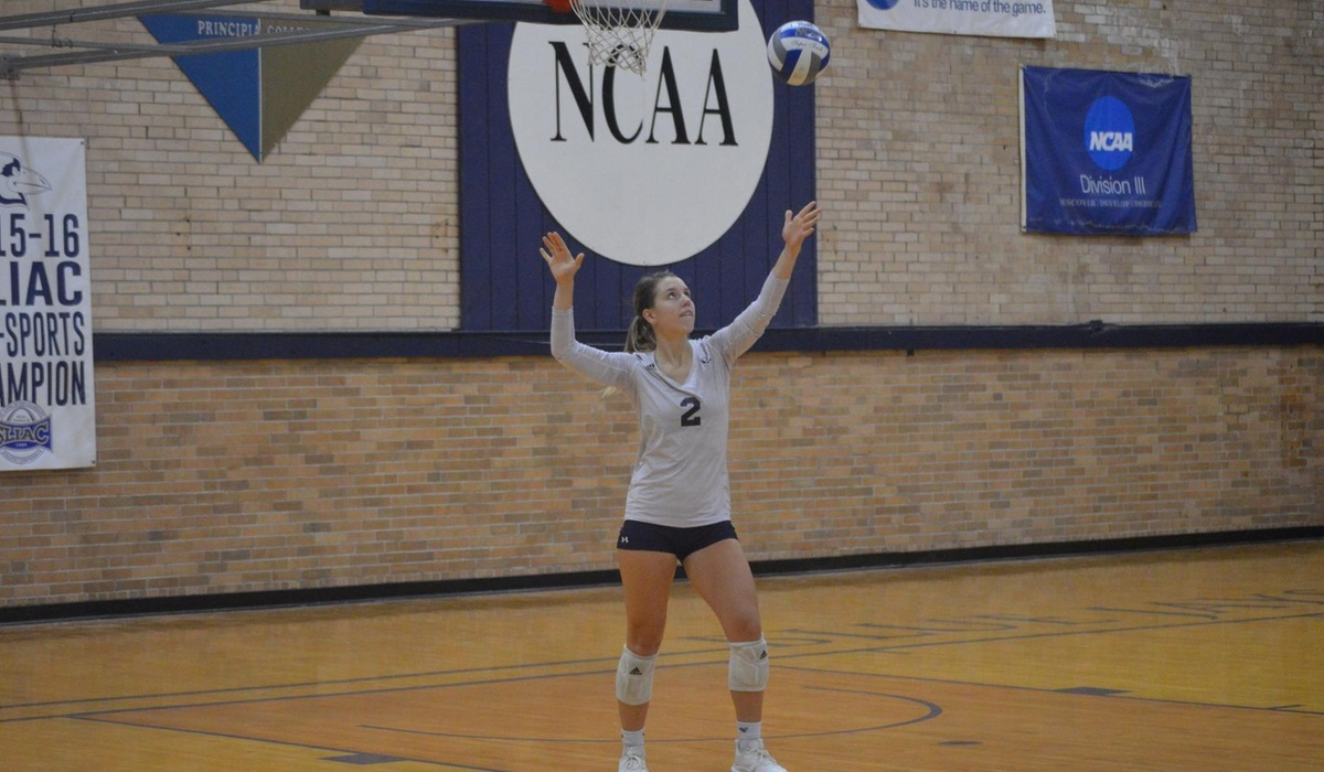 Westminster Volleyball Sweeps Iowa Wesleyan