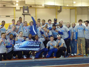 Men's Track Wins 2011 NEC Indoor Championship