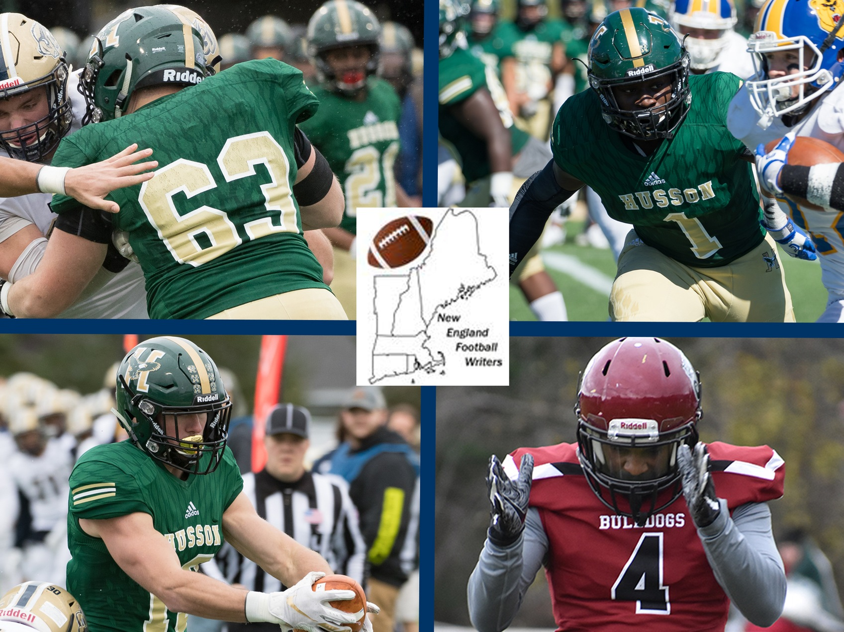 Four from ECFC Honored by New England Football Writers