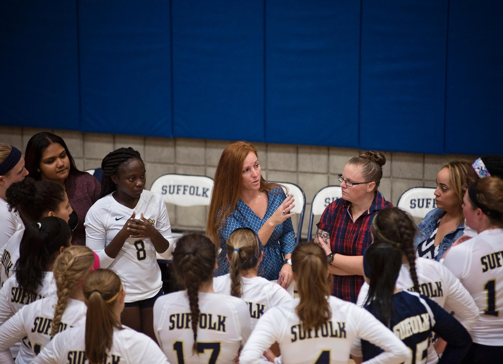 Volleyball Hosts Rivier on Columbus Day