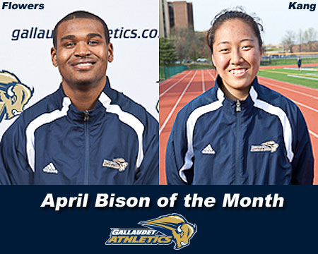 Darius Flowers, Leslye Kang named April Bison of the Month