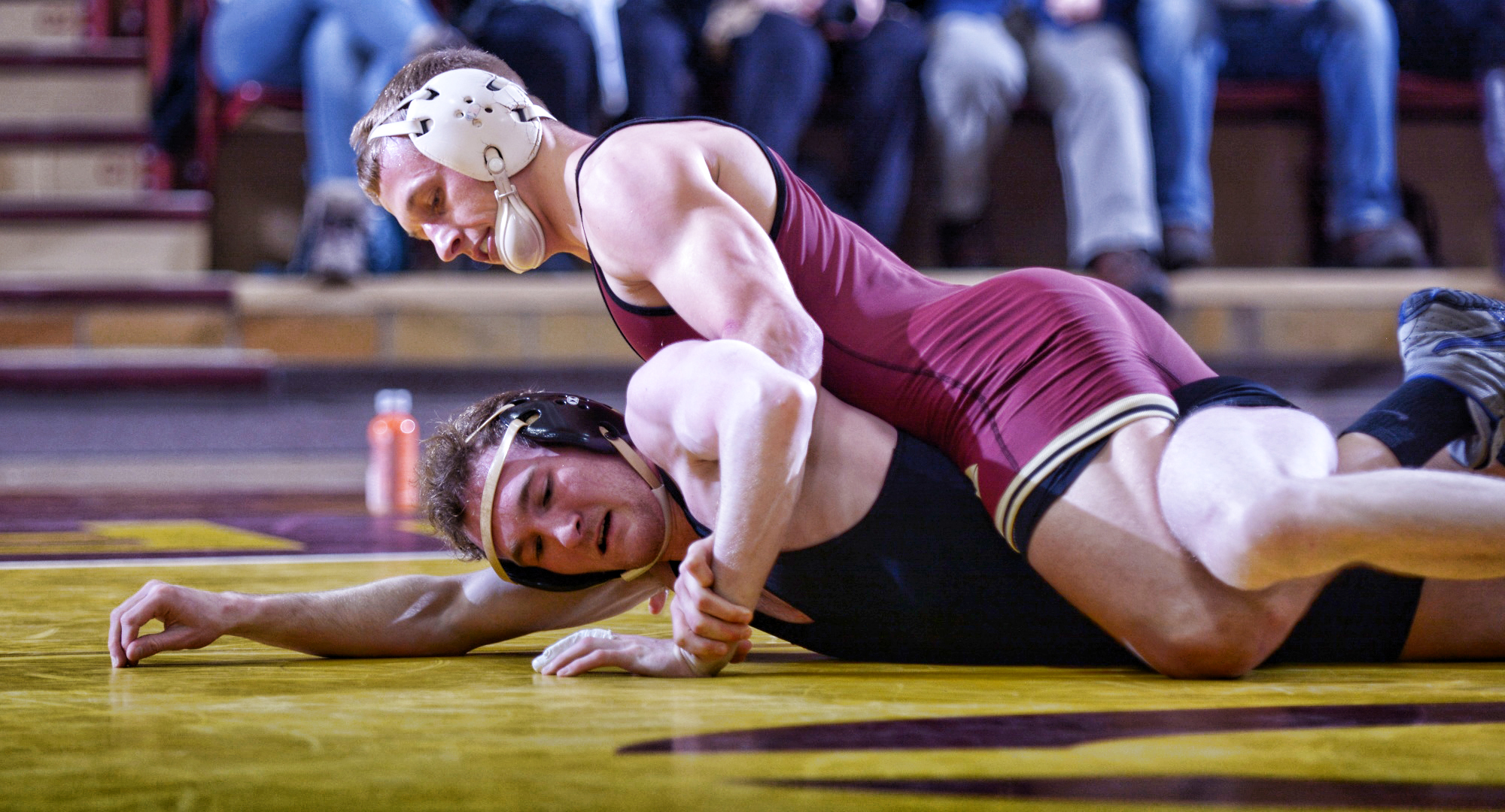 Junior Travis Deegan had one of the four wins for the Cobbers in their season-opening dual meet at Northern State.