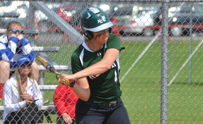 Samantha Blum (4) homered for the Wolves on Friday