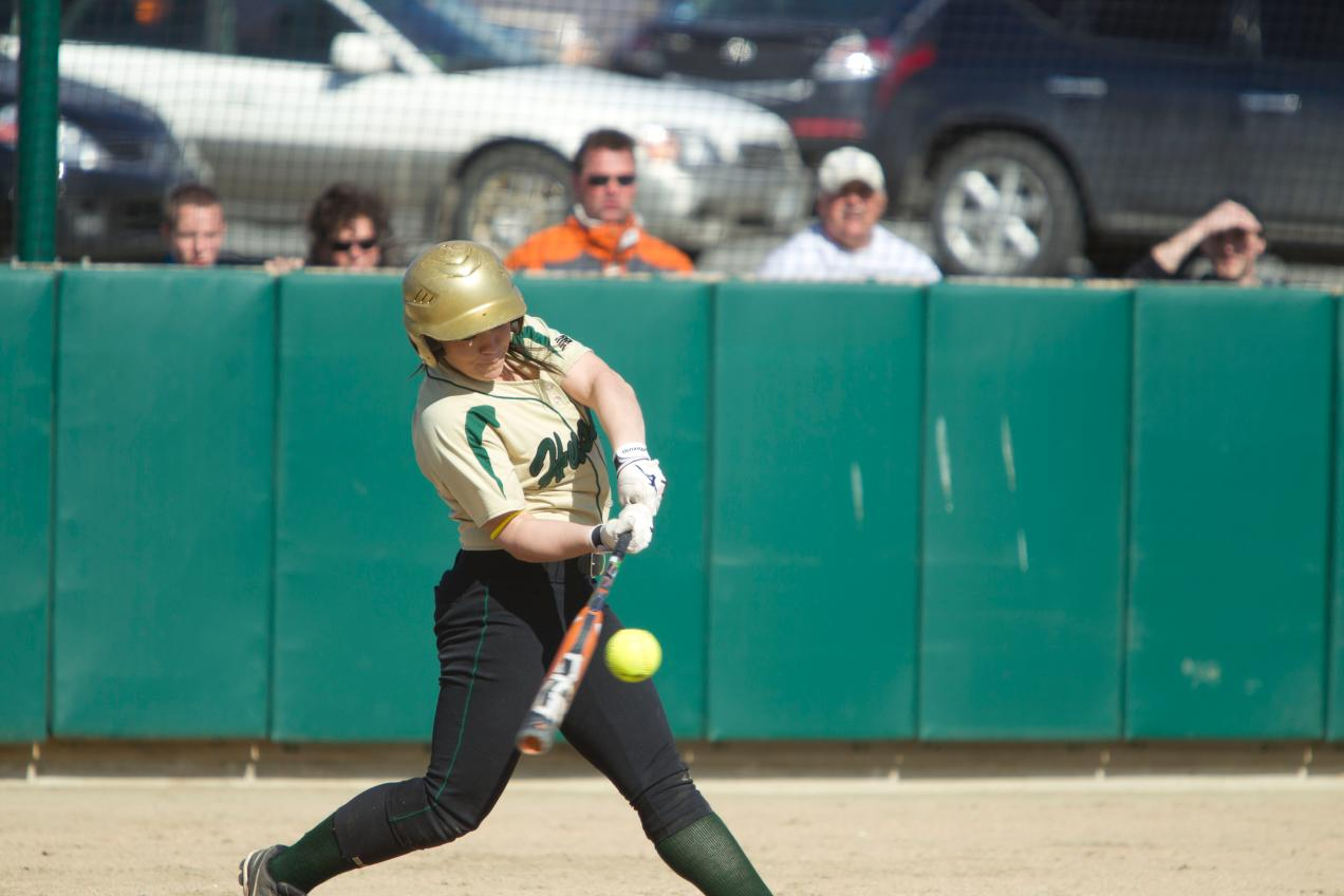 Husson Sweeps Softball Double Header at Maine Maritime
